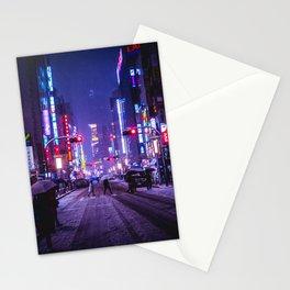 Shibuyascapes Snowy Night Stationery Cards