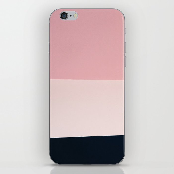 Pink & Naval & Rose Abstract Background iPhone Skin