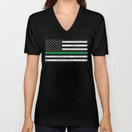 Thin Green Line Unisex V-Neck