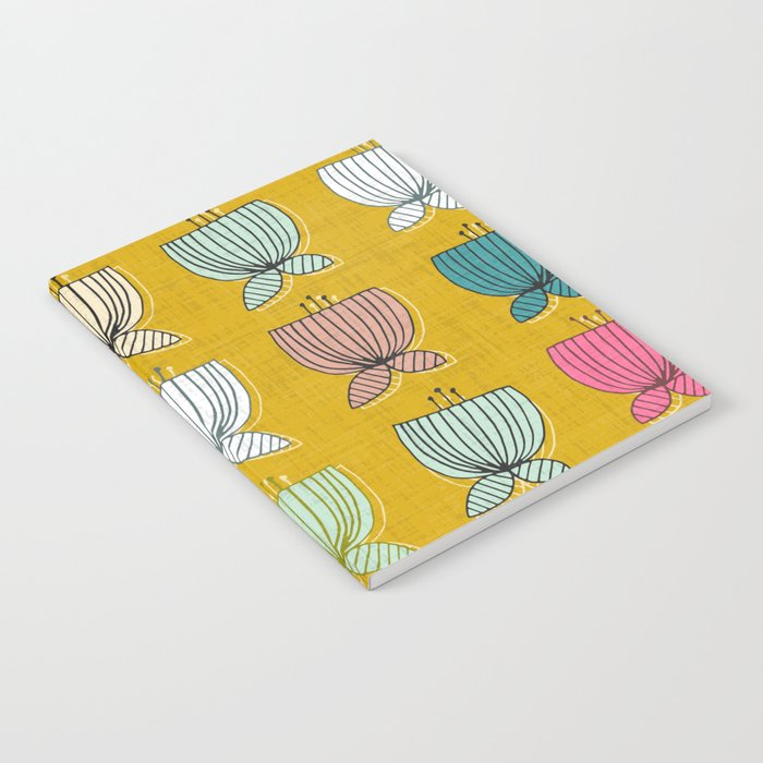 flower cups yellow Notebook