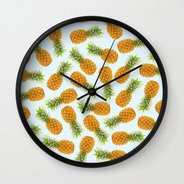 Pattern pineapple fashion I Wall Clock