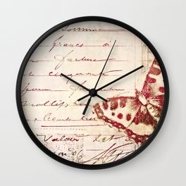 red winged Wall Clock