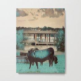 Ranch Cow Metal Print