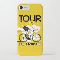 tour de france iPhone & iPod Cases featuring Tour De France by Wyatt Design