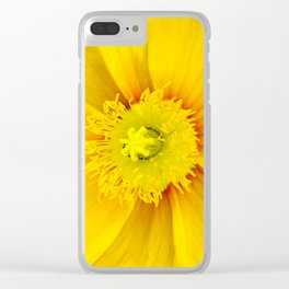 Iceland Poppy Clear iPhone Case