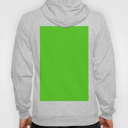 Solid Bright Onion Green Color Hoody