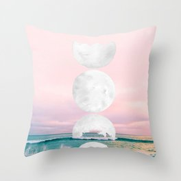 The Moon and the Tides Throw Pillow
