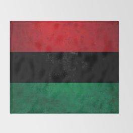 Distressed Afro-American / Pan-African / UNIA flag Throw Blanket