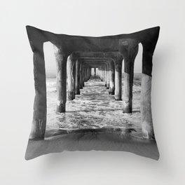 Manhattan Beach Pier | Manhattan Beach Photography | Manhattan Beach Art | Manhattan Beach Print Throw Pillow