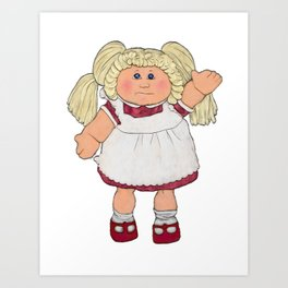 Cabbage Patch Doll on White Art Print