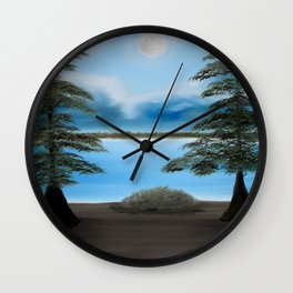 Moonlight on the Trace Wall Clock