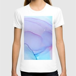 Lilac Essense fluid ink abstract painting T-shirt