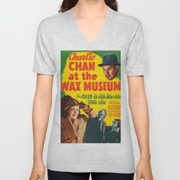 Charlie Chan at the Wax Museum, vintage movie poster Unisex V-Neck