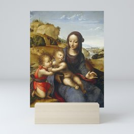 "Fernando Yáñez de la Almedina ""The Virgin with Child and Little (Infant) Saint John [the Baptist]"" Mini Art Print"
