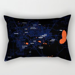 FanMap | NCAA SEC Florida #7 Rectangular Pillow