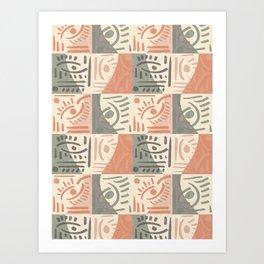 Tribal Tiles #society6 #pattern Art Print
