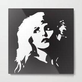 Blondie, Music Legend, Black, White, Cinema, Art, Author, Song Writer, Musician, Punk, Metal Print