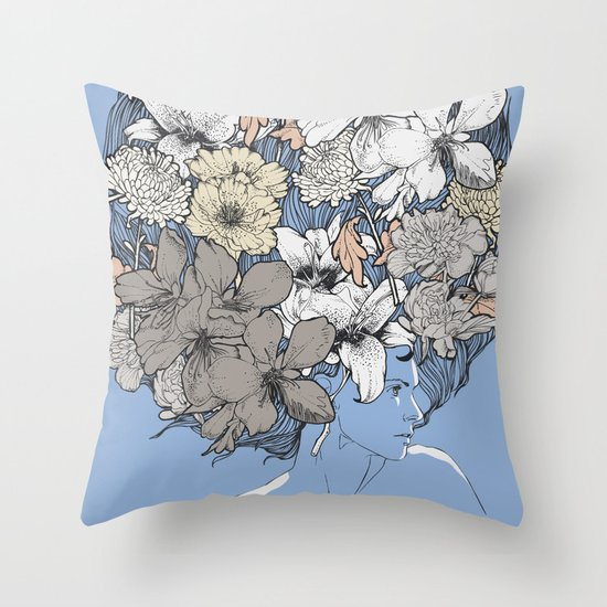INSIGHT BLOOM Throw Pillow