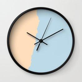 Peach and Pale Blue Wall Clock