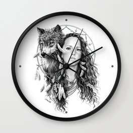Heather / Black & white Wall Clock