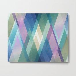 Abstract diamond crystals Metal Print