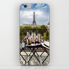 Eiffel Tower Paris Balcony View iPhone Skin