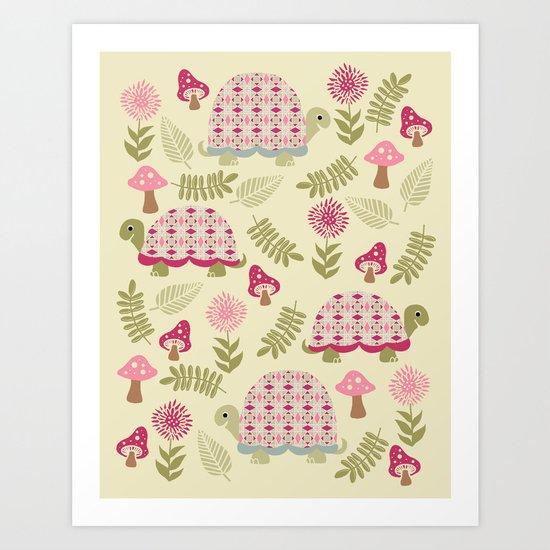 Cheerful Turtles Art Print