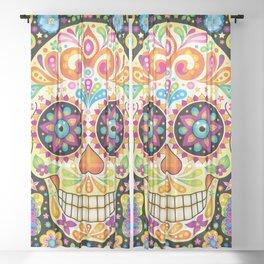 Día de Muertos Sugar Skull (Fiesta) Sheer Curtain