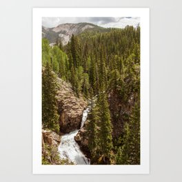 Judd Falls in Crested Butte, Colorado Art Print