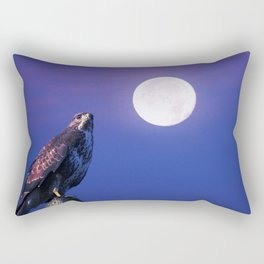 Bird of prey in the full moon Rectangular Pillow