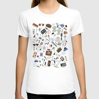 girly T-shirts featuring Girly Objects by Yuliya