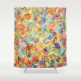 Swirly Swirls Shower Curtain