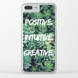 Daily Mantra Clear iPhone Case