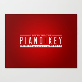 Piano Key Neck Tie Canvas Print