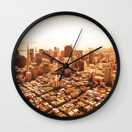 san francisco skyline Wall Clock
