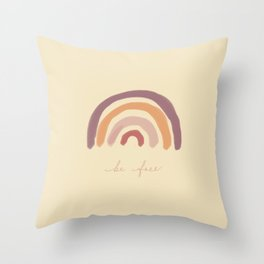 Be free rainbow nordic Throw Pillow