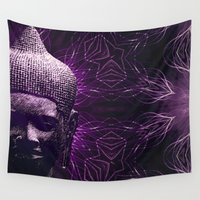meditation Wall Tapestries featuring Meditation by JG-DESIGN