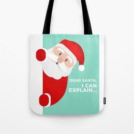 Naughty Nice Good Bad Santa Claus Presents List Gift Tote Bag