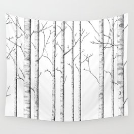 The birch forest Wall Tapestry