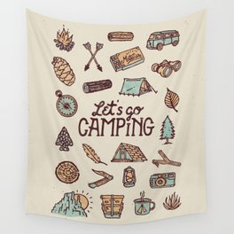 Lets Go Camping Wall Tapestry