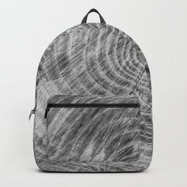 Rustic Wood grain Black And White Backpack