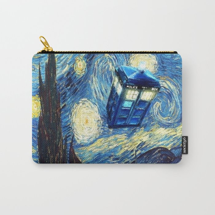Tardis Doctor Who Starry Night Carry-All Pouch