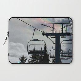 4 Seat Chair Lift Rainbow Sky \\ The Mountain Sun Rays \\ Spring Skiing Colorado Winter Snow Sports Laptop Sleeve
