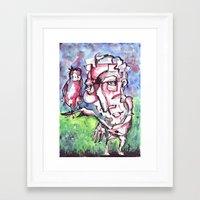 birdman Framed Art Prints featuring Birdman by 5wingerone