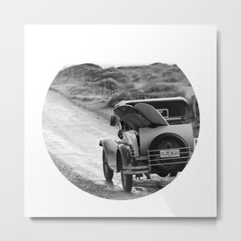 Vintage Car Surf Safari Metal Print