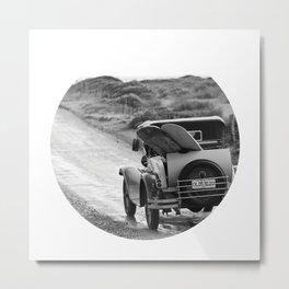 Vintage Car Surf Safari Metal Print