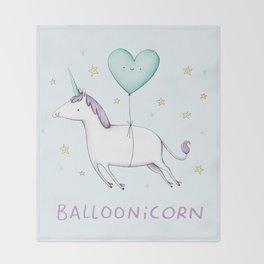 Balloonicorn Throw Blanket