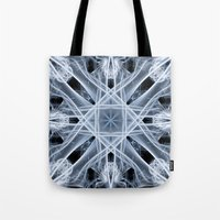snowflake Tote Bags featuring Snowflake by Steve Purnell