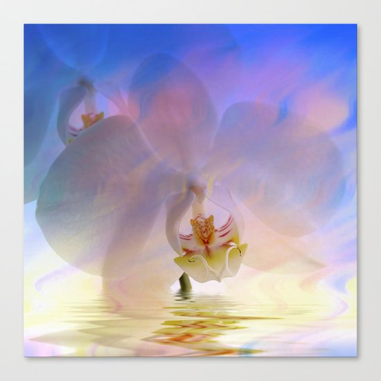 Orchid in a bath 1 - Flower and Flowers on #Society6 Canvas Print