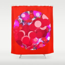 SEXY PLEXI DOTS FULL OF RED LOVE  Shower Curtain